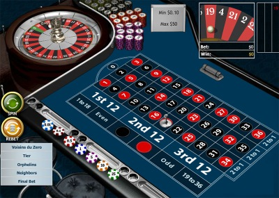 With European Roulette Pro you can place many special bets.