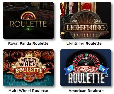 Roulette fans will love the selection of games.