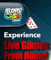 Play popular table games with a live dealer at Sloto Cash casino.